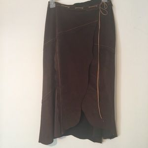 BeBe faux suede look  Wrap skirt  size  s/m